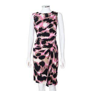 Diane von Furstenberg Bec Dress Animal Print Silk